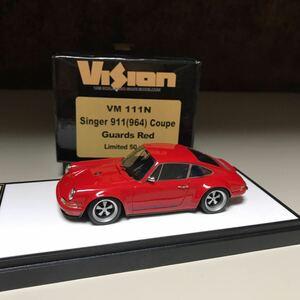 限定50台 1/43 メイクアップ ヴィジョン makeup VISION Porsche Singer 911(964) Coupe Guards Red ガーズレッド VM111N シンガーポルシェ