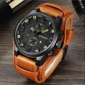 男性メンズ 腕時計 クォーツ式防水 日付 紳士 時計