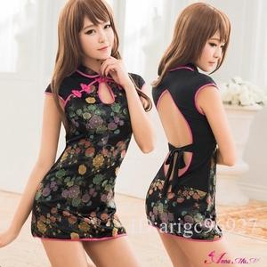 ハロウィン コスプレ チャイナドレス コスチューム ミニ チャイナ服 衣装 セクシー RQ31