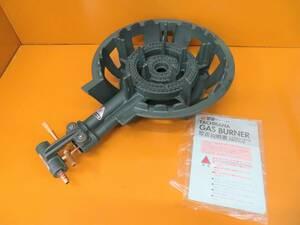 【美品】タチバナ製 TS-210 鋳物コンロ 羽根無 2重巻バーナー ガスコンロ プロパン LP ガス 新品未使用