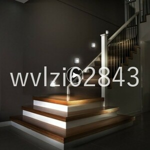 GU095:LEDセンサーナイトライト デュアル誘導PIR赤外線モーションセンサーランプ 磁気赤外線ウォールランプキャビネット階段
