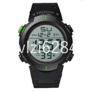 GU163:ファッションメンズデジタル腕時計防水メンズスポーツクォーツ腕時計レロジオ Masculino ミリタリー軍の Led
