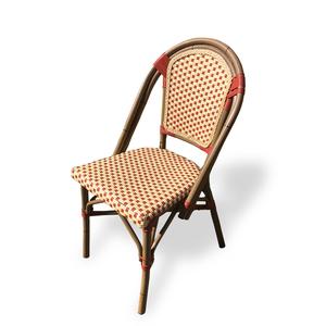 【ヴィンテージ 籐編み風ビニール ダイニングチェア】検:レトロモダンラタン椅子カフェチェア