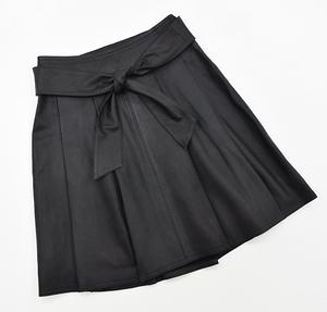 新品同様 マックスマーラ Max Mara WEEKEND 山羊革 レザースカート 38 黒 ベルト付き