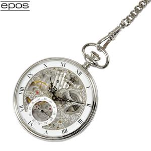 eposエポス 懐中時計 2121R フルスケルトン ポケット 手巻き タイムピース ポケットウォッチ 新品・送料無料 並行輸入品