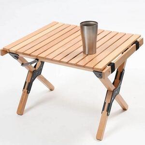 CHANODUG OUTDOOR ウッドロールテーブル ミニサイズ 収納ケース付 ガーデンテーブル キャンプテーブル 送料無料