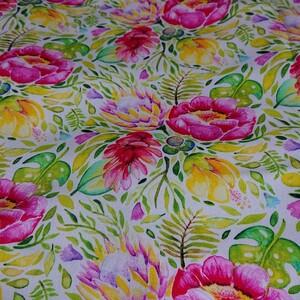 花 柄生地 カラフル 145×100