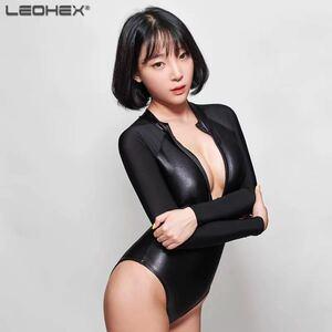 在庫処分特価 高品質 LEOHEX ハイレグレオタード 水着 タイツ ボディスーツ オープンクロッチコスプレ衣装Mサイズ
