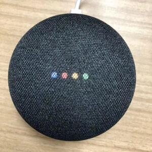 グーグル ホーム ミニ Google Home Mini スピーカー チャコール 中古美品