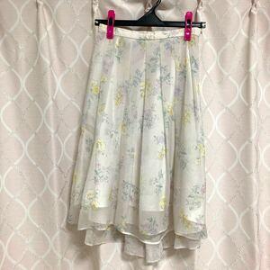 【willselection】ウィルセレクション 花柄スカート フラワー ホワイト 白 ボタニカル