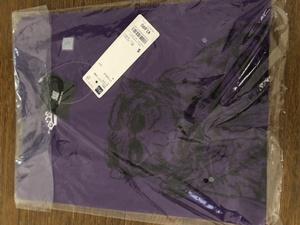 新品 GU BiSH ビッシュ グラフィック 半袖Tシャツ 紫 Sサイズ  アイナ・ジ・エンド モモコグミカンパニー