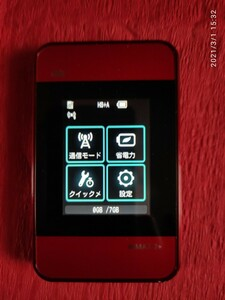 Wi-Fi WALKER WiMAX 2+ HWD15 レッド