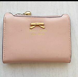 財布 折り財布 レディース ピンク  二つ折り財布
