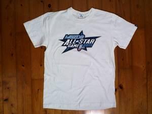 ★微難有☆NPB★MAZDA ALL STAR GAME2011★2011年オールスターゲーム プリント半袖Tシャツ コットンTシャツ M 白