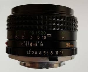 実写作例付 MINOLTA MC ROKKOR-PF 50mm F1.7 ミノルタ単焦点レンズ ジャンク