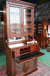 イギリスアンティーク家具 ビューローブックケース ビューロー ブックケース キャビネット 英国製 k2