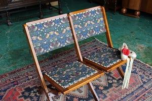 イギリスアンティーク家具 フォールディングチェア ベンチ シアターチェア 折りたたみチェア/ベンチ 英国製 C300-6