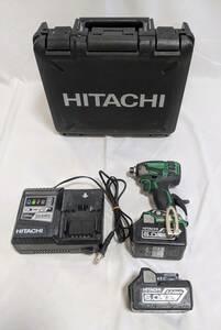 HiKOKI 旧日立工機 コードレスインパクトドライバ 急速充電器・ケース付 アグレッシブグリーン WH18DDL2