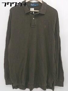 ◇ Polo by Ralph Lauren ポロ バイ ラルフローレン 長袖 ポロシャツ サイズXL ブラウン系 メンズ 1105270009643