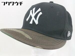 ◇ New Era ニューエラ Yankees ベースボールキャップ 帽子 野球帽 ブラック サイズONE メンズ 1104020005911