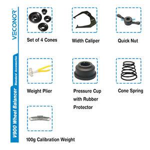 領収書ok!◎◎セミオートカーホイールバランサー、CE対応カーホイール用、最大24インチリム手動データ入力コンパクトサイズV900☆●