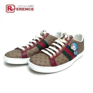 GUCCI グッチ 655034 シェリー ドラえもん Ace Sneaker スニーカー 靴 キャンバス/レザー レディース ブラウン/マルチカラー