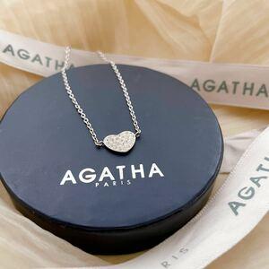 極美品! AGATHA アガタ ブレスレット シルバー 925 Astd ハート型 アクセサリー 箱付き