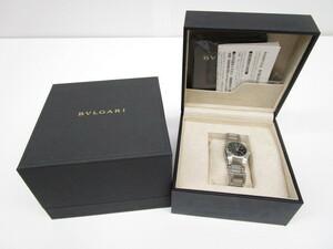 [即日発送]★良品 電池交換済★ BVLGARI ブルガリ Ergon エルゴン EG30S レディース腕時計 クオーツ 文字盤黒 シルバー 331