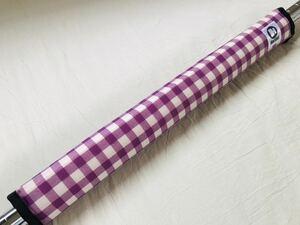 リバーシブルフレームパッド 紫チェック×ピンク★HALDOT ハルドット★ピスト・ロード・クロスバイク自転車