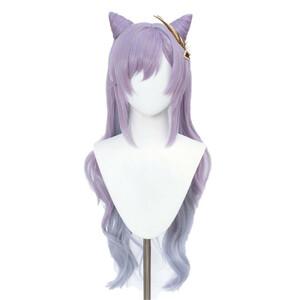 原神 げんしん 刻晴 こくせい コクセイ 風 コスプレウィッグ cosplay wig 耐熱 かつら 仮装 変装 ウィッグ 変装 仮装