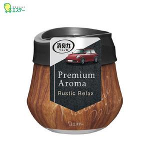 芳香剤 クルマの消臭力 Premium Aroma ゲルタイプ 置き型 ラスティックリラックスの香り フレグランス 車内 トイレにも エステー 12984