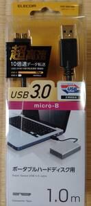 エレコム(USB3-AMB10BK)USB3.0ケーブル(Aオス-microBオス) 1m