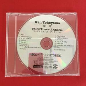 〇横山健/サード・タイムズ・ア・チャーム/CD、PZCA-38 見本盤