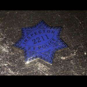 ★ アメリカンポリスバッジ SFPD(サンフランシスコ市警) Inspector/ダーティ・ハリー【last在庫/値下げ交渉お気軽に】男は黙って即決価格!