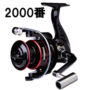 Z336 送料無料 フィッシング リール スピニングリール 2000番 釣り 海水 淡水 ギア比5.2:1 ハンドル左右交換