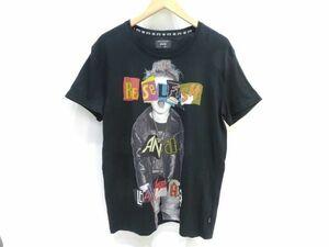 130s●glamb Rock kid T グラム ロックキッド Tシャツ 半袖 プリント ブラック GB17SP/T03 サイズ:3 ※中古