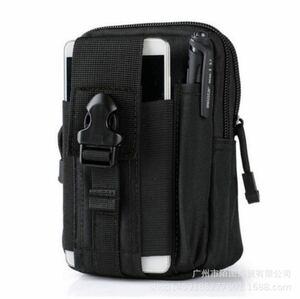 送料無料!タクティカルモバイルポーチ Tactical &pouch ブラック  ベルトポーチ 多機能ポーチ