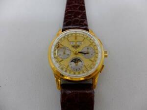 HEUER GOLDEN HOURS Heuer hand winding 18K chronograph 721.508 unused