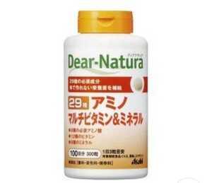 [未開封品]栄養機能食品/サプリメントAsahiアサヒのサプリ Dear-Naturaディア-ナチュラ 29 アミノ マルチビタミン ミネラル 300粒 100日分