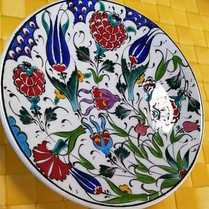 トルコ   飾り皿☆  手書き絵皿   インテリア  陶器