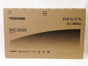 〇〇【中古】【未使用】東芝 TOSHIBA レグザ REGZA 50V型 地上・BS・CSデジタル 4Kチューナー内蔵 4K対応 液晶テレビ 50C350X