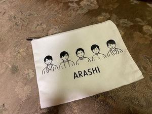 """★ARASHI EXHIBITION """"JOURNEY"""" 嵐を旅する展覧会 公式グッズ ポーチ 未使用★"""
