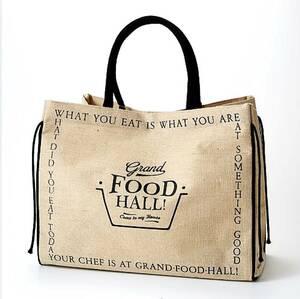 《 Ground FOOD HALL! グランド フード ホール エコバック 大 ロゴレター B 》 六本木ヒルズ 芦屋 ナショナル麻布 ピカール 紀ノ国屋