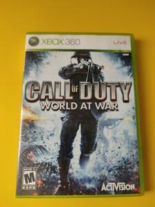 XBOX360 call of duty world at war cod waw コールオブデューティ 海外版