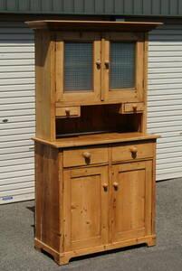 オールドパイン ビンテージ アンティーク カップボード キッチンボード キャビネット 飾り棚 食器棚 収納棚 カントリー
