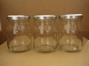 プリンカップ ガラス製 蓋付き 3個セット