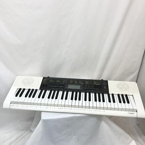 中古 CASIO カシオ 電子キーボード LK-116 61鍵盤 光ナビゲーション 電子ピアノ ホワイト ブラック 鍵盤楽器 アダプター付き H15204