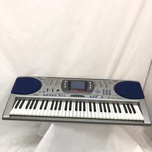 CASIO カシオ 電子キーボード LK-150 光ナビゲーション 61鍵盤 シルバー ブルー 電子ピアノ 鍵盤楽器 アダプター付き H15211