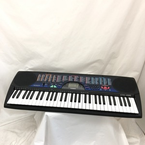 中古 CASIO カシオ 電子キーボード CT-495 ブラック ブルー 61鍵盤 電子ピアノ 鍵盤楽器 アダプター付き H15257