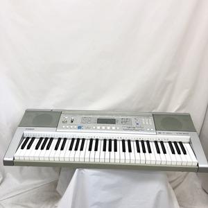 中古 CASIO カシオ 電子キーボード CTK-810 61鍵盤 ベーシックタイプ シルバー 電子ピアノ 鍵盤楽器 アダプター付き H15253
